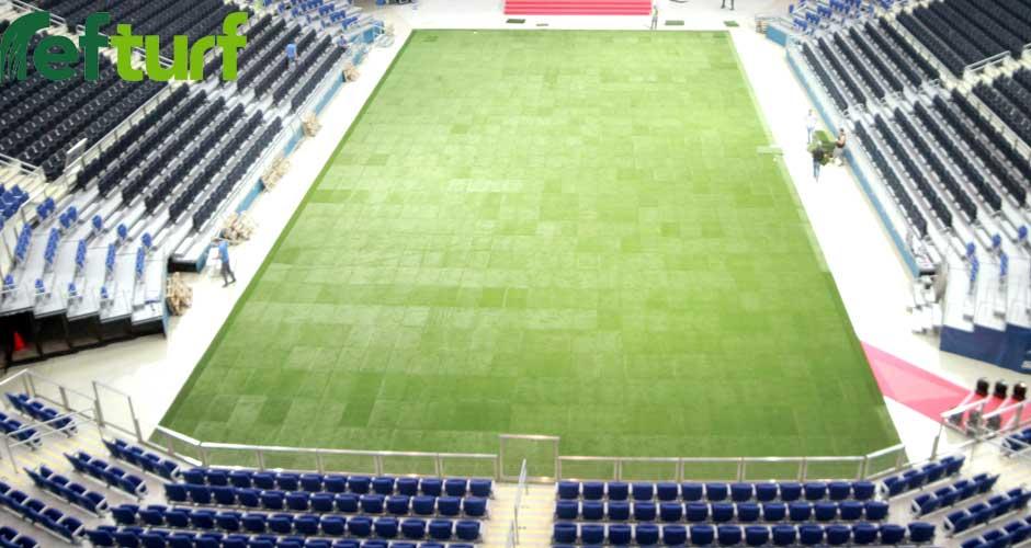 ülker arena, ülker arena stadı, ülker arena sentetik çim, puzzle saha, puzzle çim, refturf, modüler çim, hazır çim,