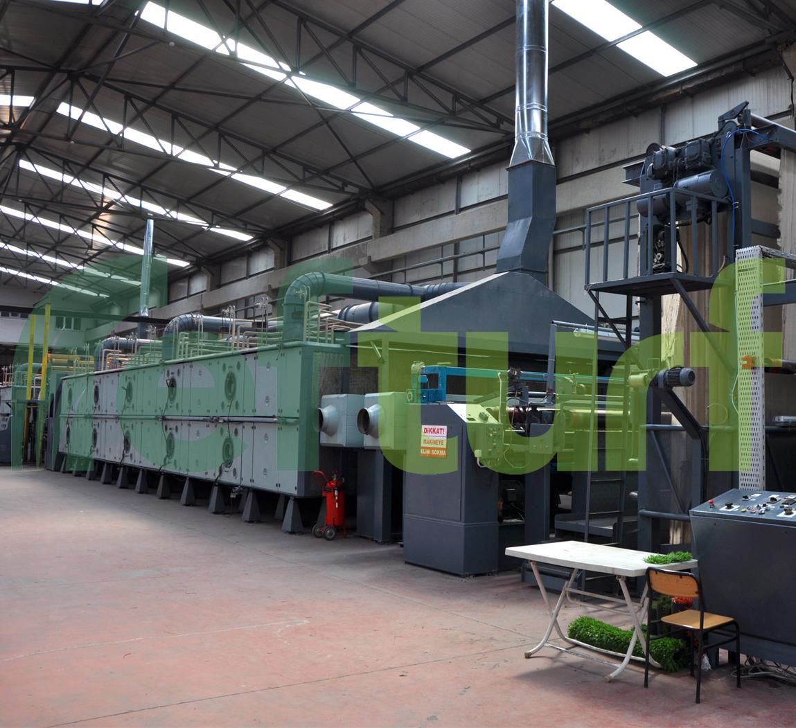 makina, sentetik çim üretim makinası, fırın, sentetik çim üretim fırını,