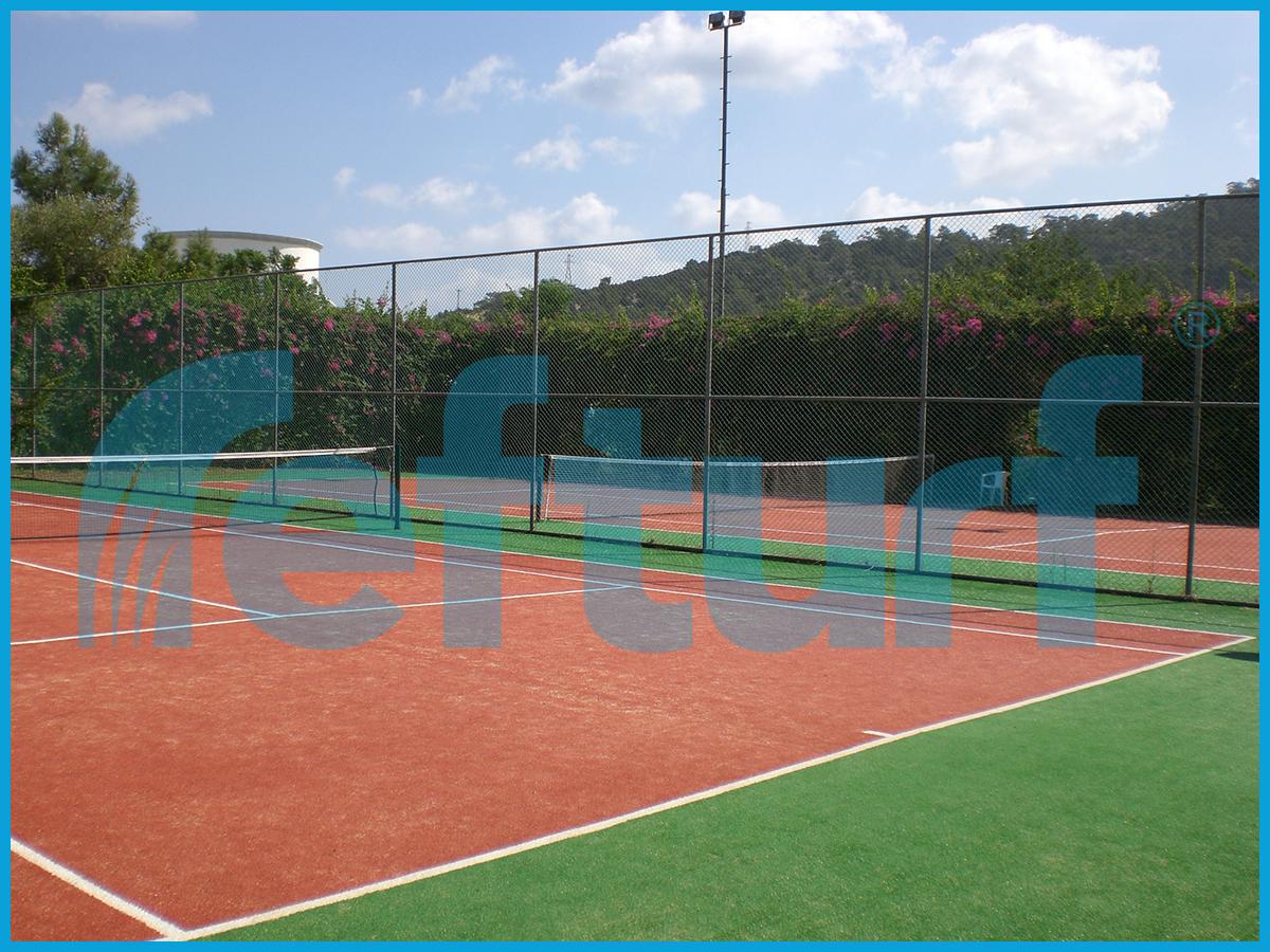 manzaralı tenis kortu, tenis kortu görselleri, sentetik çim tenis kortu