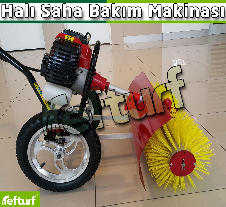 halı saha bakım makinası, sentetik çim fırça makinası, halı saha fırçalama makinası, suni çim bakım makinası,