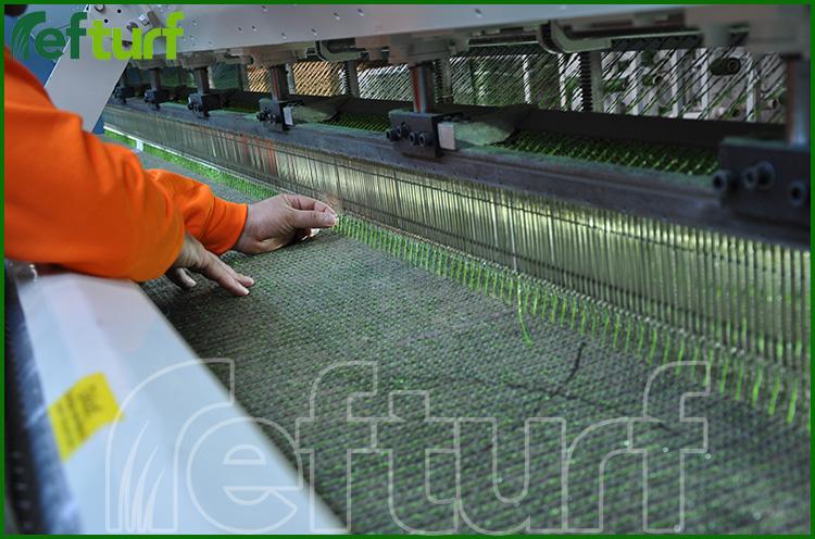 sentetik çim üretimi, sentetik çim üretim aşaması